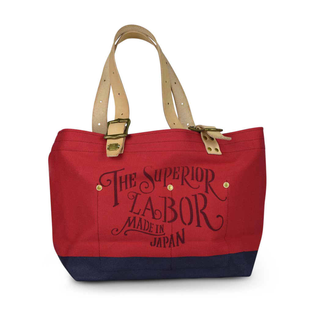 The Superior Labor engineer tote bag S red body navy paint - NOMADO Store