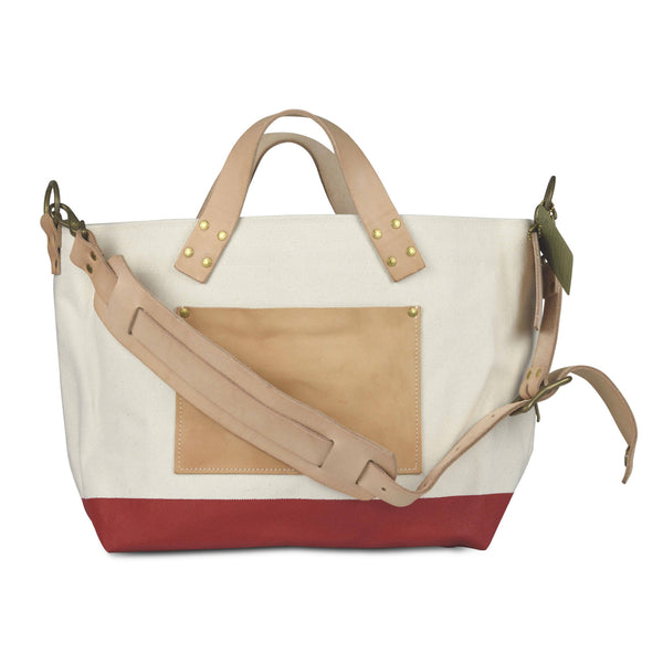 The Superior Labor engineer shoulder bag S natural body red paint PRE-ORDER - NOMADO Store