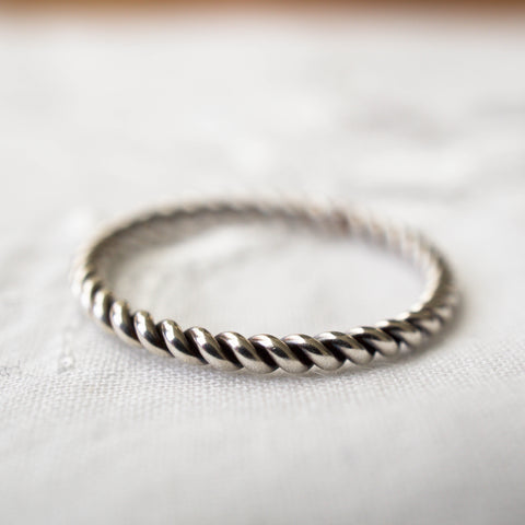 Twist Ring Sterling Silver