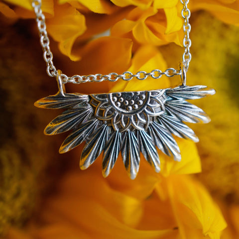 Sunflower Pendant - Large