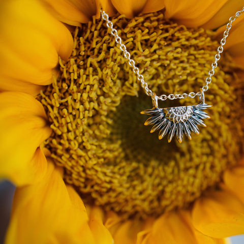 Sunflower Pendant - Mini