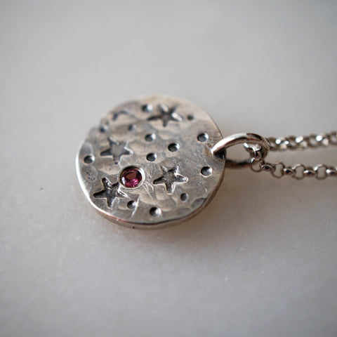 Star Necklace - Pink Tourmaline