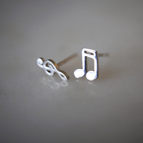 Mismatched Chord Stud Earrings
