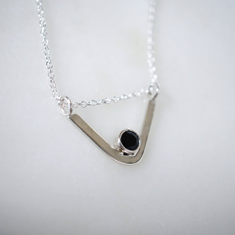 Arc Necklace with Spinel