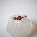 PRE ORDER - 14k Seed Ring with Diamond