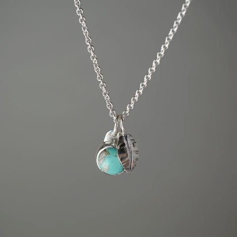 Turquoise Turning Leaf Necklace