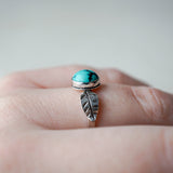 Turquoise Turning Leaf Ring
