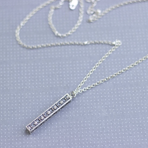 Forget Me Not Bar Necklace