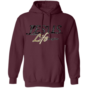 Jesus Where Life Begins Hoodie Gold