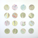 Assorted Round Scalloped Stickers 1.5""