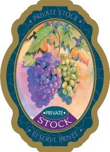 Adhesive Wine Label - Private Stock - Grain To Glass