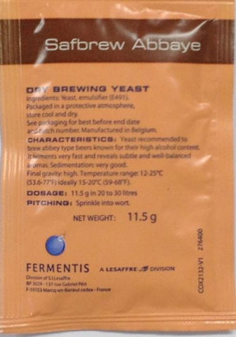 Fermentis Safbrew Abbaye Dry Beer Yeast - Grain To Glass