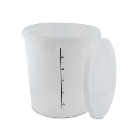 Primary Pail with Lid - Semi-Translucent 32 Liter - Grain To Glass