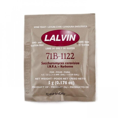 Lalvin 71B-1122 - Wine Yeast - Grain To Glass