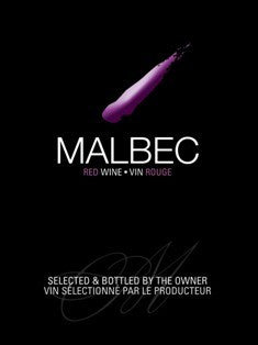 Ultra Wine Label - Malbec (Black & Purple) - Grain To Glass