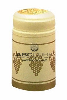 Shrink Cap - Almond/Gold Grapes (30 Pack) - Grain To Glass
