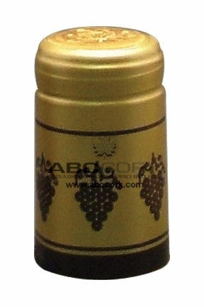 Shrink Cap - Gold/Black Grapes (30 Pack) - Grain To Glass
