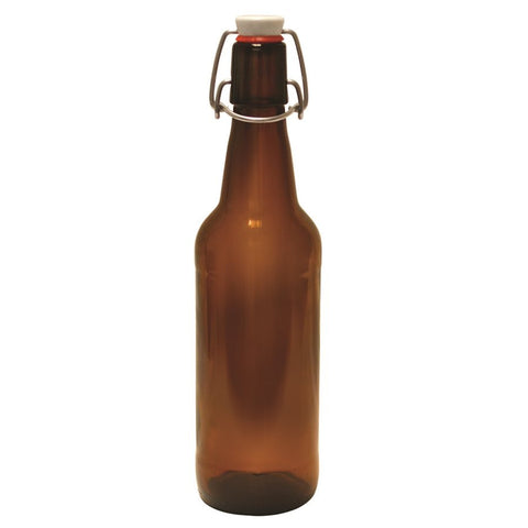 "Beer Bottles Glass 500ml - ""Swing Top"" 12 Pack - Grain To Glass"