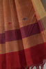 Brick Red Jaamdani Saree