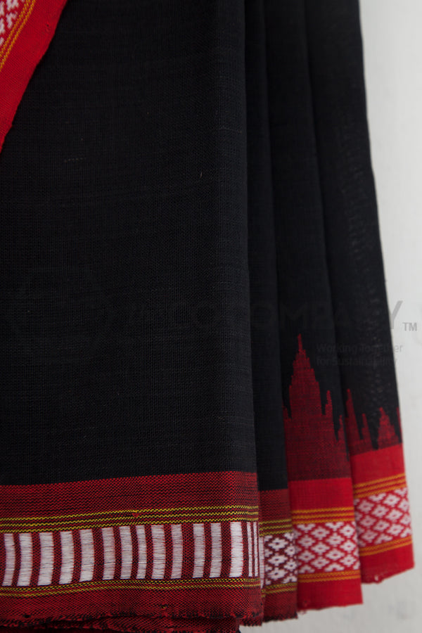 Black Bomkoi Saree