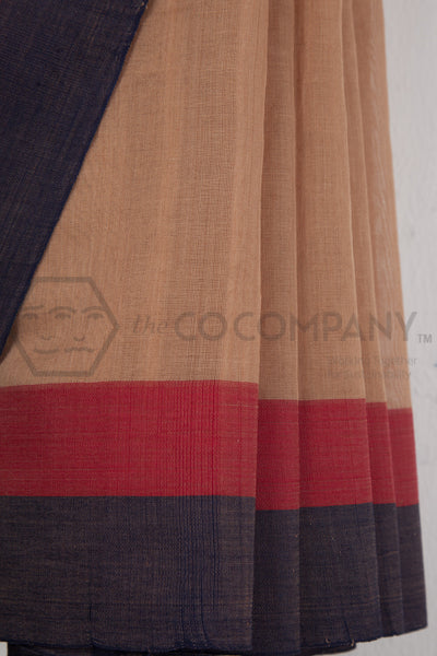 Middle Border Cotton Saree