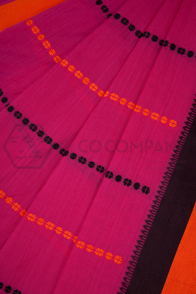 Pink Begampur Cotton Saree