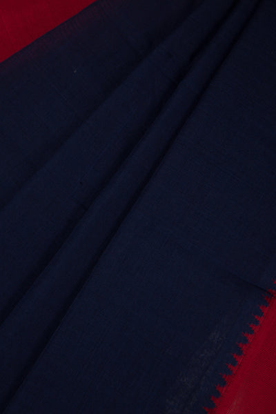 Dark Blue Mangalgiri Saree