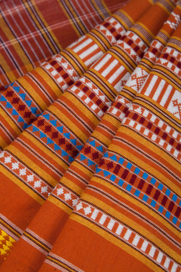 Orange Bomkoi Saree