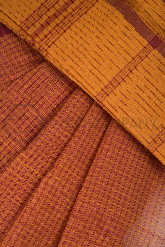 Checkered Cotton Saree