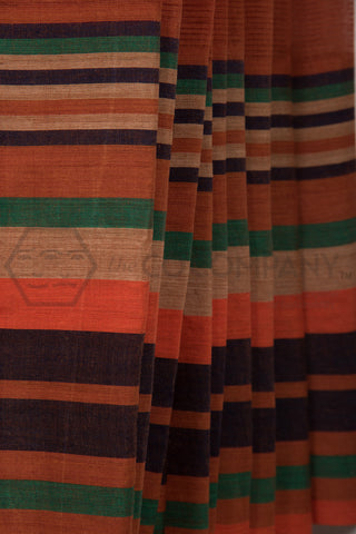 Brown Missing Lines Saree