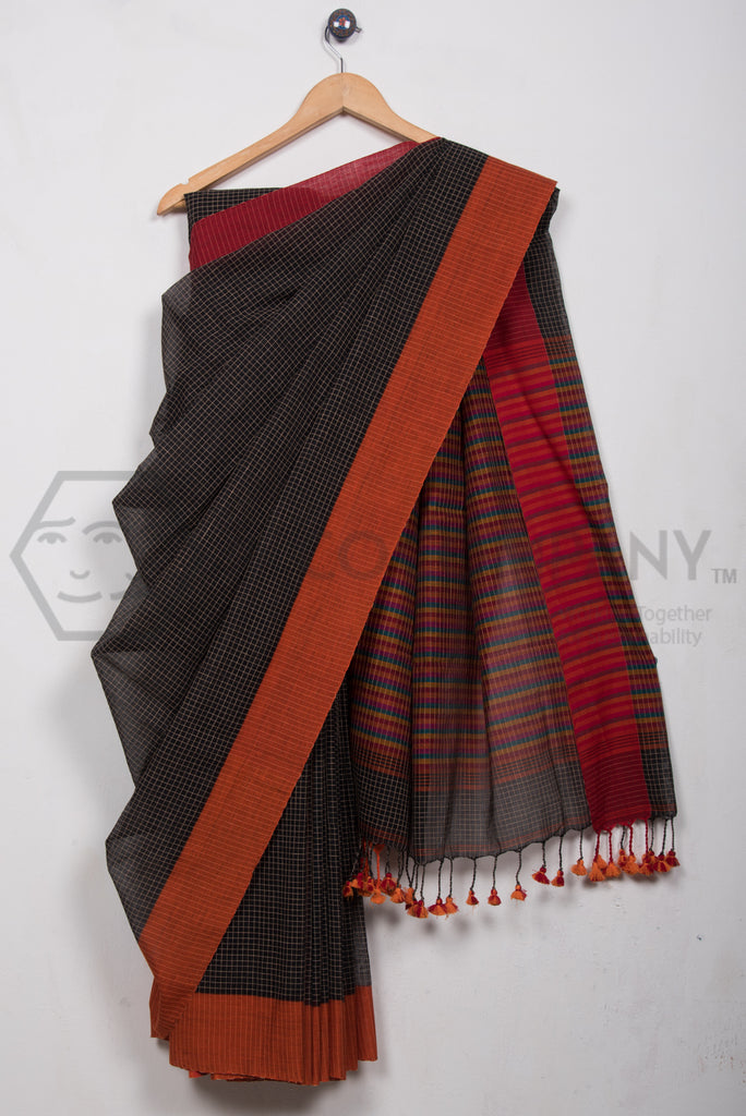 Ganga Jamuna Checkered Saree
