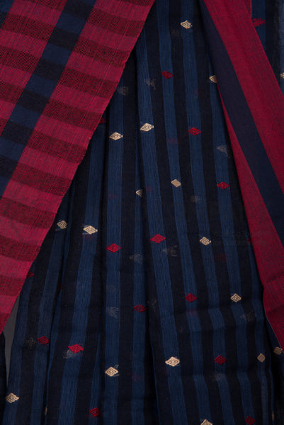 Khadi Checkered Saree