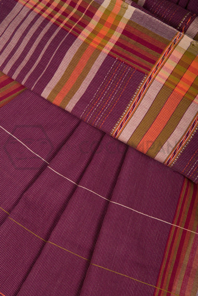 Pinstriped Bhujodi Saree