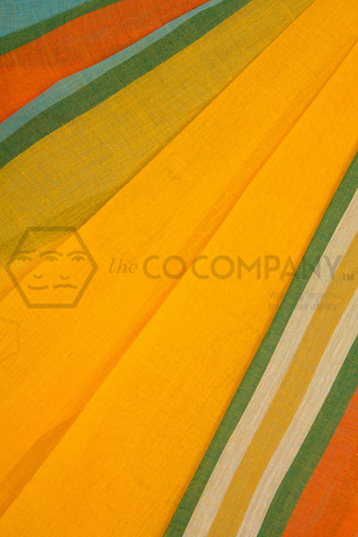 Yellow Dhaniakhali Saree