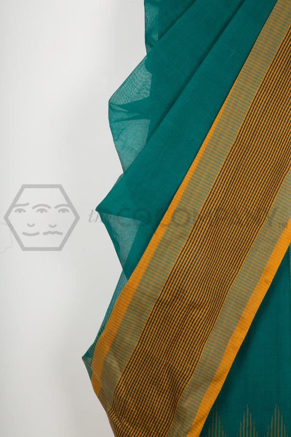 Emerald Cotton Saree