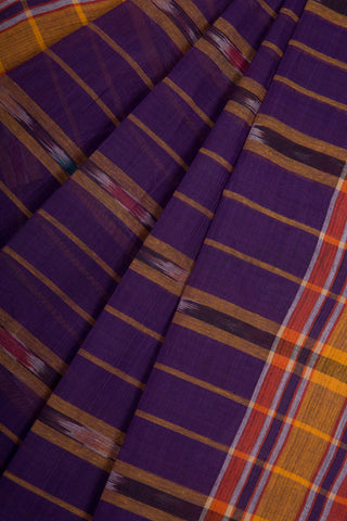 Purple Tie Dye Cotton Saree