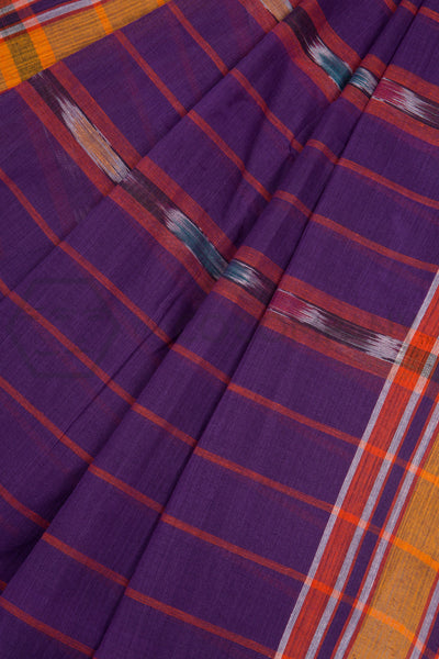 Purple Tie Dye Saree