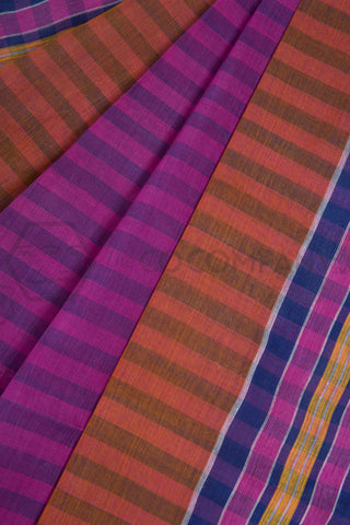Pink Cotton Dhaniakhali Saree