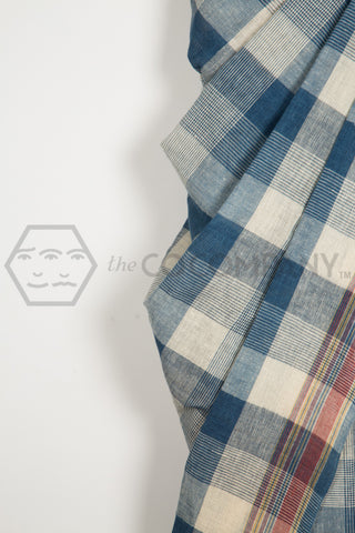 Checks Stripes Bhujodi Saree