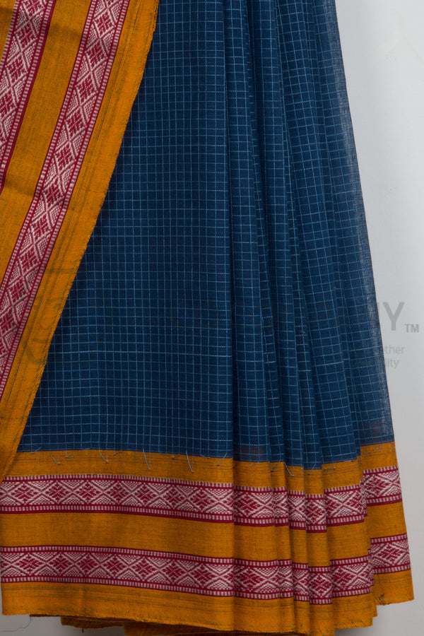 Checkered Narayanpet Saree