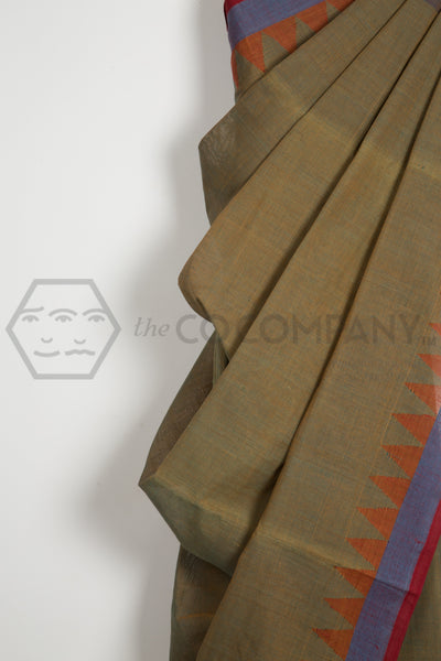 Natural Green Khadi Saree