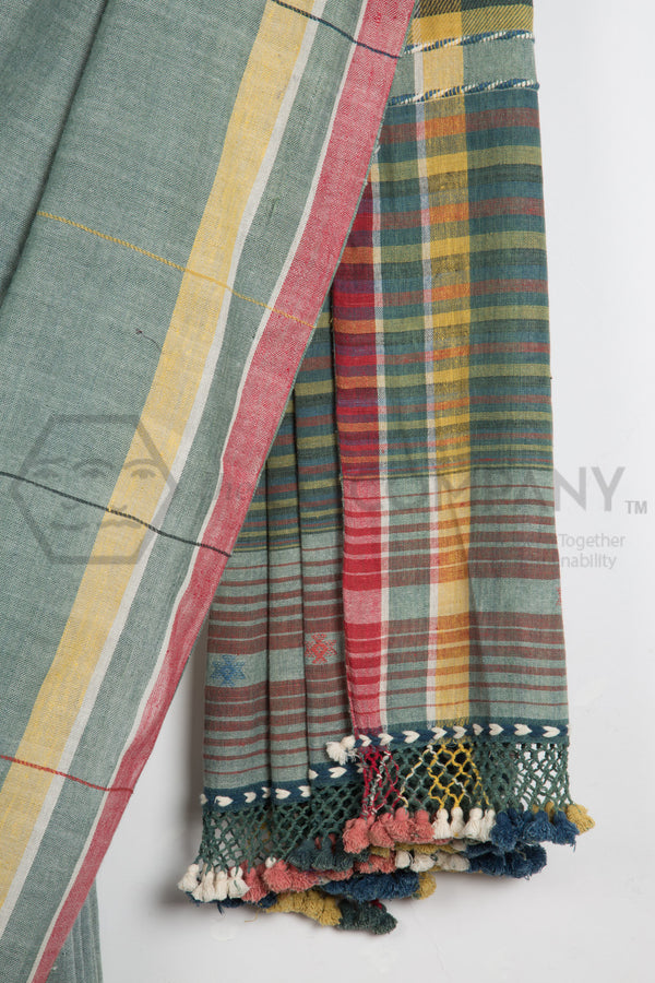 Natural Dyes Kala Cotton Bhujodi Saree
