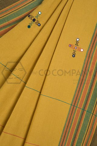Bhujodi Saree with Mirrors in Pallu