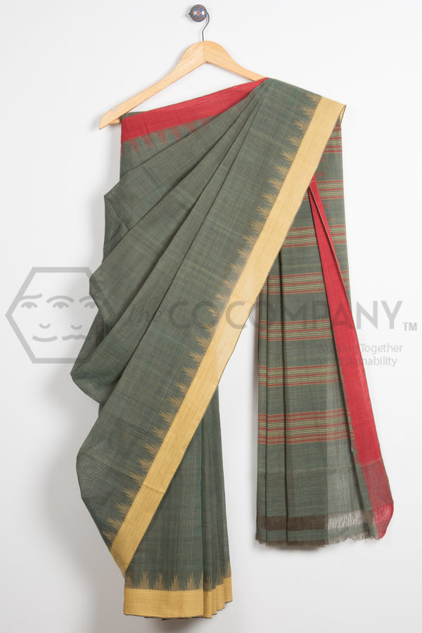Natural Dye Khadi Saree