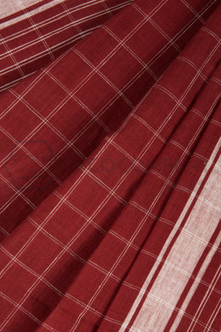 Checkered Malkha Saree