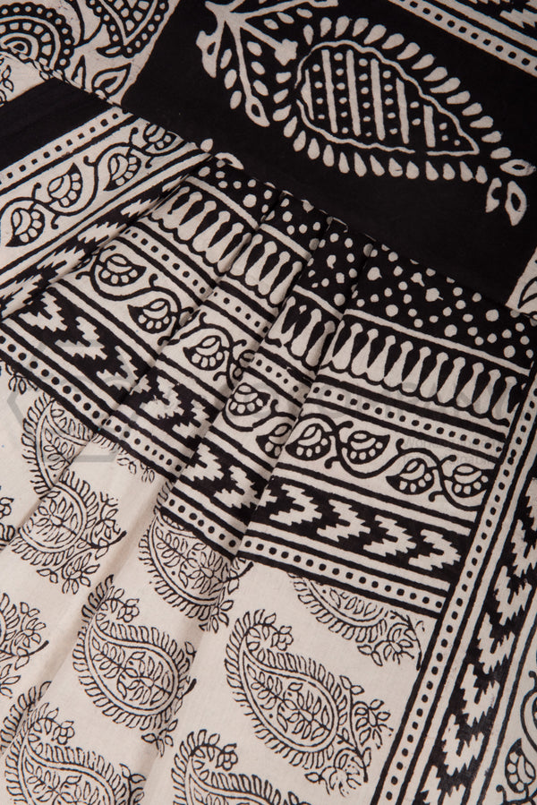 Traditional Paisley Bagh Print Saree