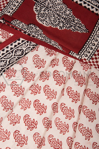 Traditional Bagh Print Saree