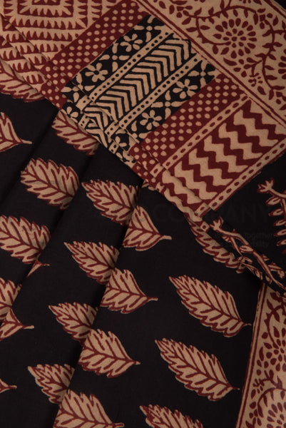 Black Bagh Print Saree