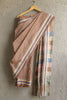 Light Brown Checkered Natural Dyes Irkal Saree