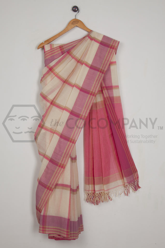 Big Checks Saree